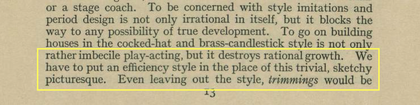 W.R. Lethaby   Housing and Furnishing, 1920
