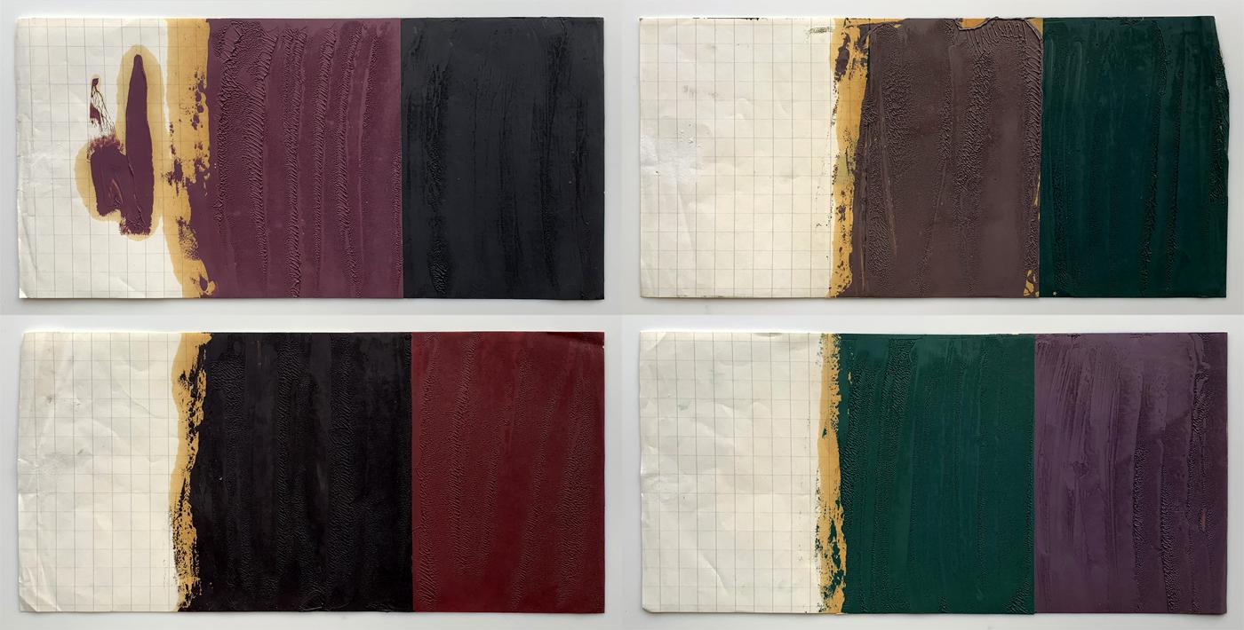 1990 Paintings x4