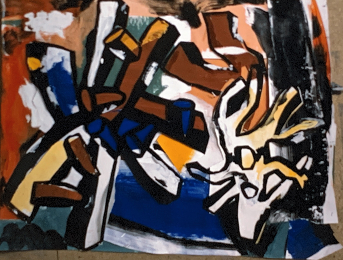 1980 Painting like Leger